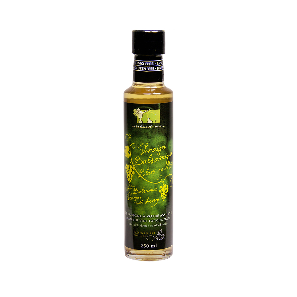 Vinaigre balsamique blanc au miel - sans sulfite - White wine vinegar with honey - no sulfit